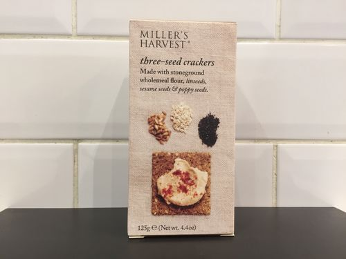 miller harvest three seed crackers